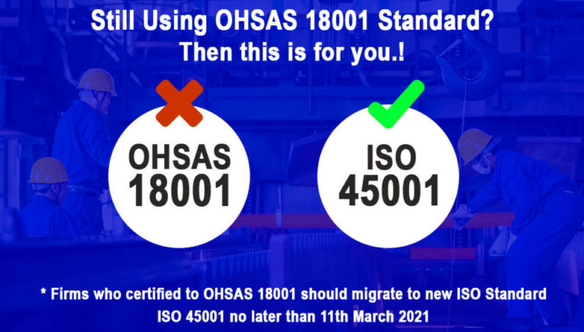 Migrate from OHSAS 18001 to ISO 45001 Standard