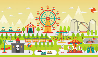 amusement park ride and device safety inspection vec